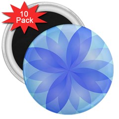 Abstract Lotus Flower 1 3  Button Magnet (10 pack)