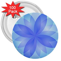 Abstract Lotus Flower 1 3  Button (100 pack)
