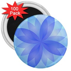 Abstract Lotus Flower 1 3  Button Magnet (100 pack)