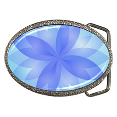 Abstract Lotus Flower 1 Belt Buckle (oval)
