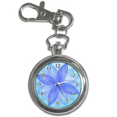 Abstract Lotus Flower 1 Key Chain & Watch
