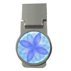 Abstract Lotus Flower 1 Money Clip (Round)