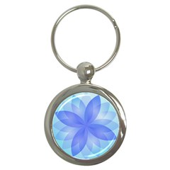 Abstract Lotus Flower 1 Key Chain (round)