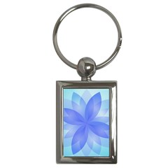 Abstract Lotus Flower 1 Key Chain (Rectangle)