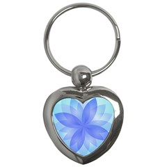 Abstract Lotus Flower 1 Key Chain (Heart)