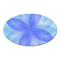 Abstract Lotus Flower 1 Magnet (oval)