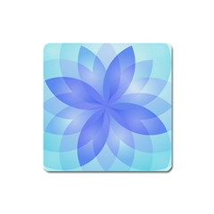 Abstract Lotus Flower 1 Magnet (Square)