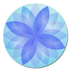 Abstract Lotus Flower 1 Magnet 5  (Round)