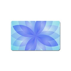 Abstract Lotus Flower 1 Magnet (Name Card)