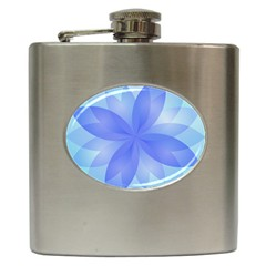 Abstract Lotus Flower 1 Hip Flask
