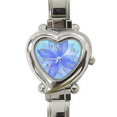 Abstract Lotus Flower 1 Heart Italian Charm Watch