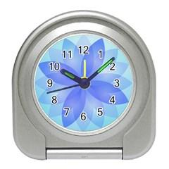 Abstract Lotus Flower 1 Desk Alarm Clock