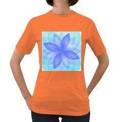 Abstract Lotus Flower 1 Women s T Shirt (colored)