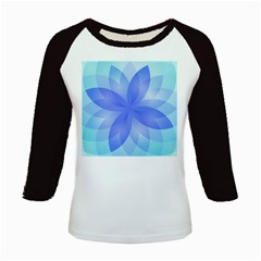 Abstract Lotus Flower 1 Kids Long Cap Sleeve T Shirt