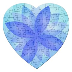 Abstract Lotus Flower 1 Jigsaw Puzzle (Heart)
