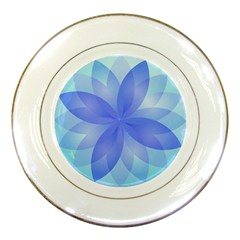Abstract Lotus Flower 1 Porcelain Display Plate