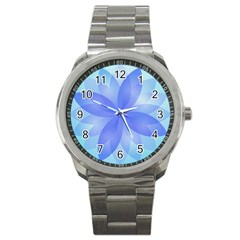 Abstract Lotus Flower 1 Sport Metal Watch