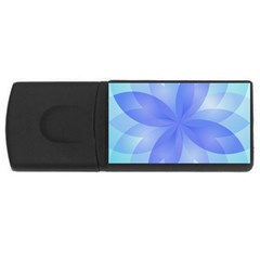 Abstract Lotus Flower 1 4GB USB Flash Drive (Rectangle)