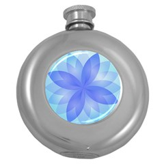 Abstract Lotus Flower 1 Hip Flask (Round)