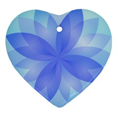 Abstract Lotus Flower 1 Heart Ornament (Two Sides)