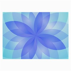 Abstract Lotus Flower 1 Glasses Cloth (Large)