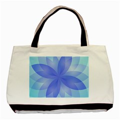 Abstract Lotus Flower 1 Twin-sided Black Tote Bag