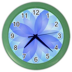 Abstract Lotus Flower 1 Wall Clock (Color)