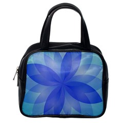 Abstract Lotus Flower 1 Classic Handbag (one Side)