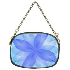 Abstract Lotus Flower 1 Chain Purse (One Side)