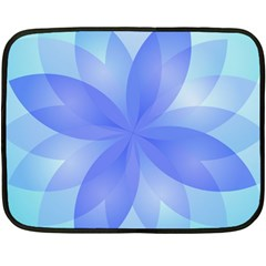 Abstract Lotus Flower 1 Mini Fleece Blanket (Two Sided)
