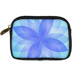Abstract Lotus Flower 1 Digital Camera Leather Case