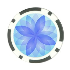 Abstract Lotus Flower 1 Poker Chip (10 Pack)