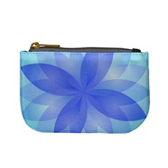 Abstract Lotus Flower 1 Coin Change Purse