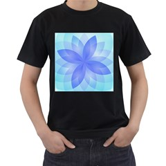 Abstract Lotus Flower 1 Men s T Shirt (black)