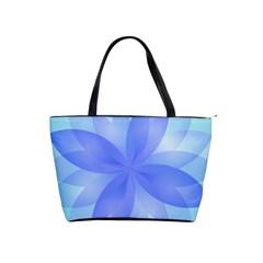 Abstract Lotus Flower 1 Large Shoulder Bag