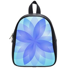 Abstract Lotus Flower 1 School Bag (small)