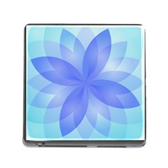 Abstract Lotus Flower 1 Memory Card Reader With Storage (square)