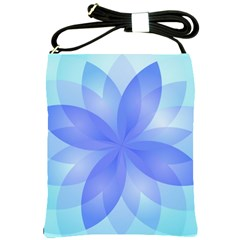 Abstract Lotus Flower 1 Shoulder Sling Bag