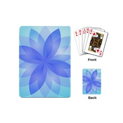 Abstract Lotus Flower 1 Playing Cards (Mini)