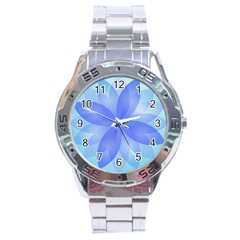 Abstract Lotus Flower 1 Stainless Steel Watch