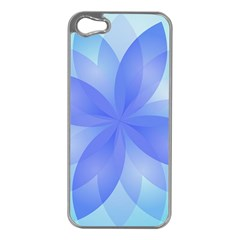 Abstract Lotus Flower 1 Apple iPhone 5 Case (Silver)