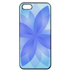 Abstract Lotus Flower 1 Apple iPhone 5 Seamless Case (Black)