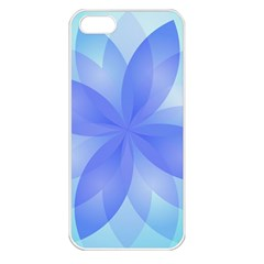 Abstract Lotus Flower 1 Apple Iphone 5 Seamless Case (white)