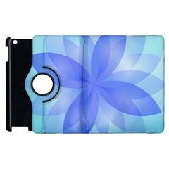 Abstract Lotus Flower 1 Apple Ipad 3/4 Flip 360 Case
