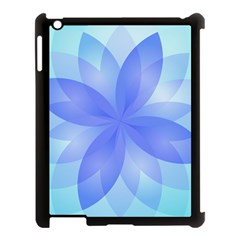 Abstract Lotus Flower 1 Apple iPad 3/4 Case (Black)