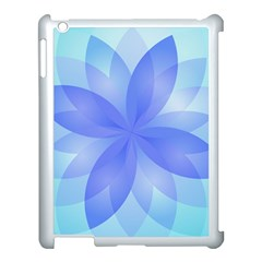 Abstract Lotus Flower 1 Apple iPad 3/4 Case (White)
