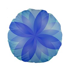 Abstract Lotus Flower 1 15  Premium Round Cushion