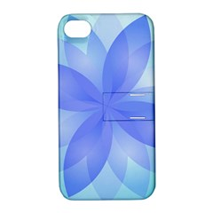 Abstract Lotus Flower 1 Apple iPhone 4/4S Hardshell Case with Stand