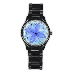Abstract Lotus Flower 1 Sport Metal Watch (Black)