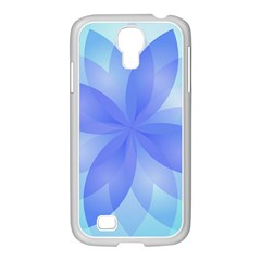 Abstract Lotus Flower 1 Samsung GALAXY S4 I9500/ I9505 Case (White)
